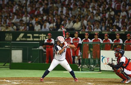 Recordpubliek tijdens USA vs Japan All Star Series