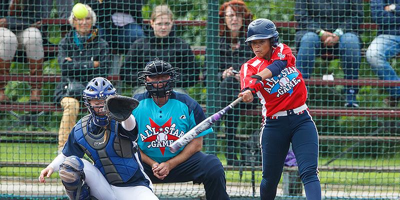 Damishah Charles aan slag tijdens de eerste editie van de All Star Game in 2015.