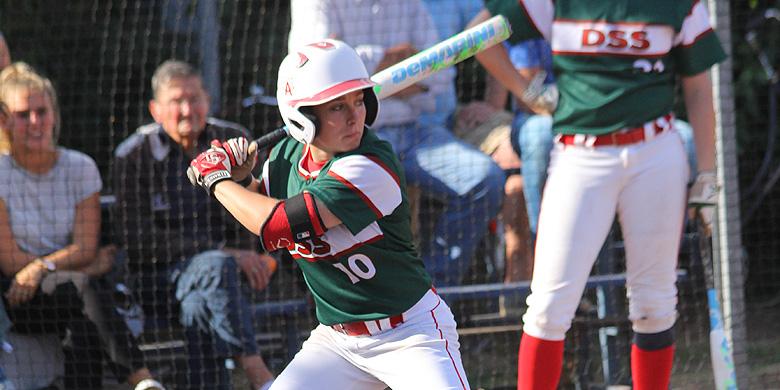Nathalie Gosewehr sloeg DSS in de tiende inning naar winst tegen Terrasvogels.