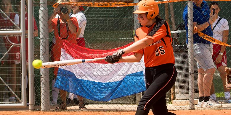 Marijn Crouwel slaat raak voor het Nederlandse U19-team.