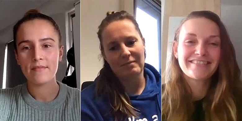 De prijswinnaars van dit jaar (v.l.n.r.): Maxime van Dalen, Kirsten Scheele en Brenda Beers.
