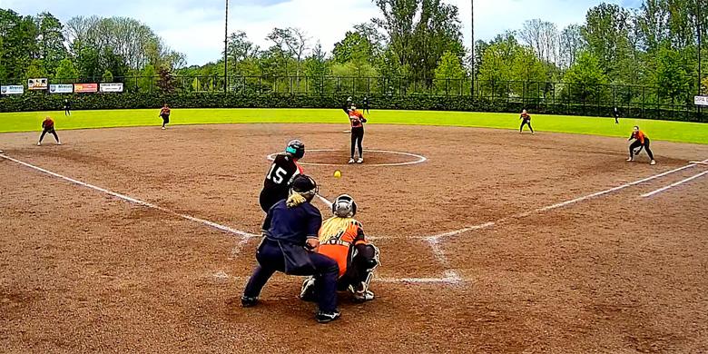Marjolein Merkx was één van de pitchers voor het Nederlands Koninkrijksteam.
